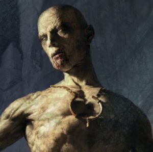 Close-up of the necklace