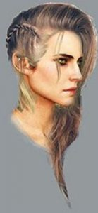 concept art of Ciri's hair in The Witcher 3: Wild Hunt